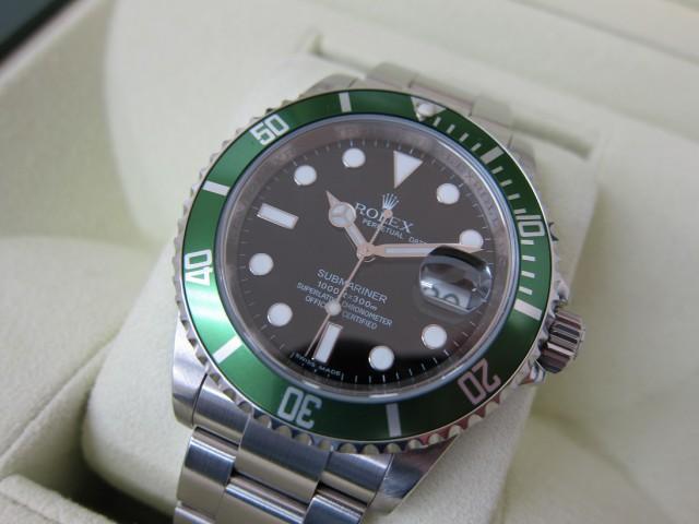 uk availability 633b5 d7e35 ロレックス グリーンサブ 16610LV M番 ルーレット刻印入り 買取 ...